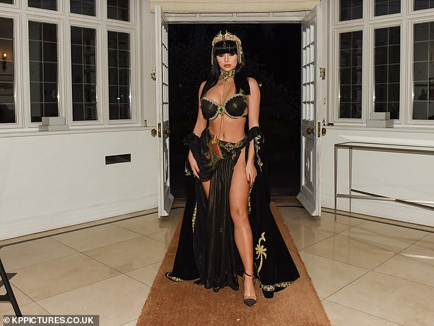 Demi Rose transforms into a stunning Cleopatra to ring in her 24th birthday with sexy Egyptian bash (Photos)