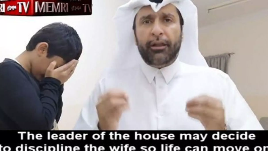 """She needs to feel you are a real man"" - Qatari man films tutorial on how Muslim men should beat their wives"