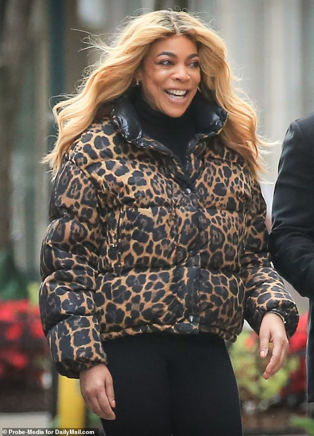 Wendy Williams all smiles as she steps out after filing for divorce from estranged husband Kevin Hunter (Photos)