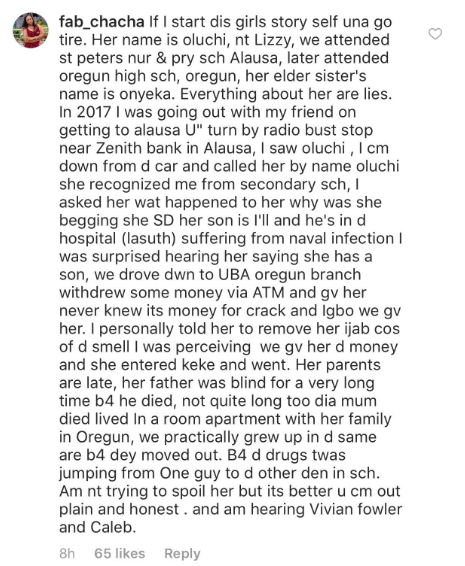 """""""She went to Oregun High School"""" - Woman who claims to know the viral cocaine addict shares her story"""