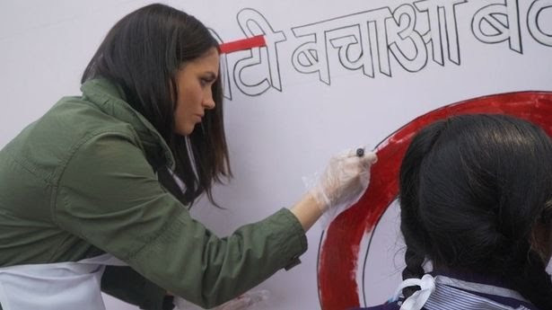 New unseen video of Meghan Markle on humanitarian visit to India emerges