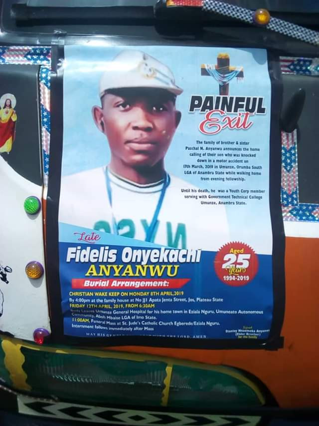 Photos: Tears as Corps member who was the first graduate in his family, is laid to rest