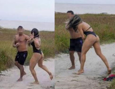 Photos: Female MMA fighter batters man who was