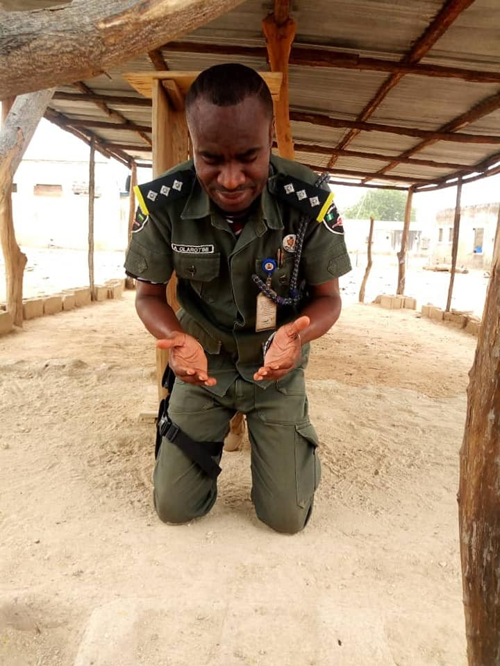 Photos: Nigerian soldier appreciates God after himself and his colleagues returned to Lagos alive after their assignment in the North East