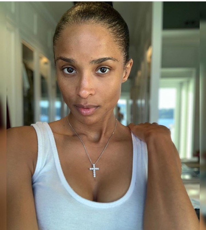 """No makeup. No extensions. The real me"" Ciara says as she shares makeup-free photo"