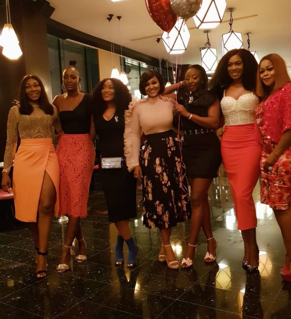 Photos: Toke Makinwa, Mercy Aigbe, Shaffy Bello, Linda Osifo, others attend Ini Edo