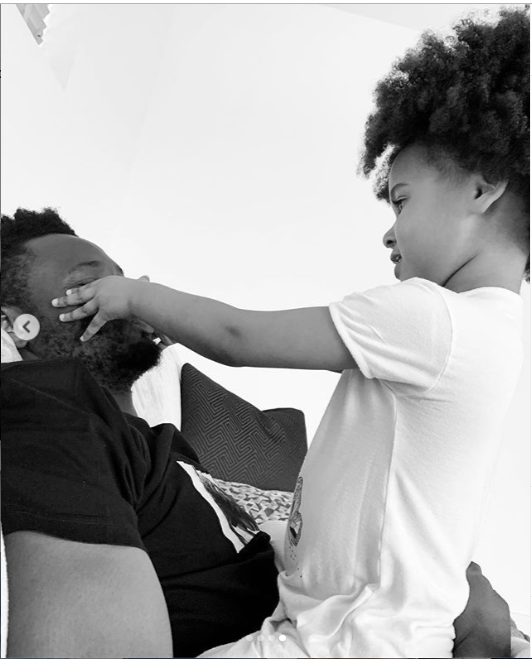 Adorable photos of Mikel Obi and one of his twin daughters
