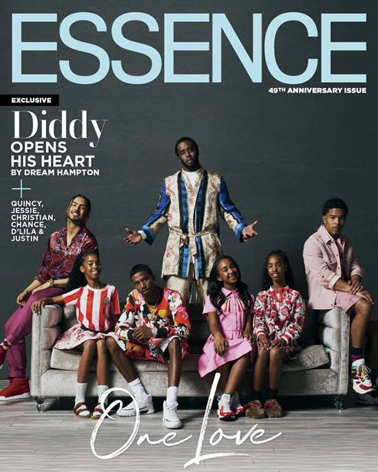 Rap Mogul, Diddy covers Essence Magazine with his children as he reveals what his ex-Kim Porter told him before she died?
