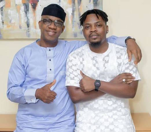 Photos: Olamide meets Ogun State governor-elect, Dapo Abiodun