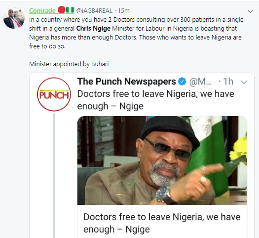 Careless and unreasonable statement- Nigerians react to Chris Ngige