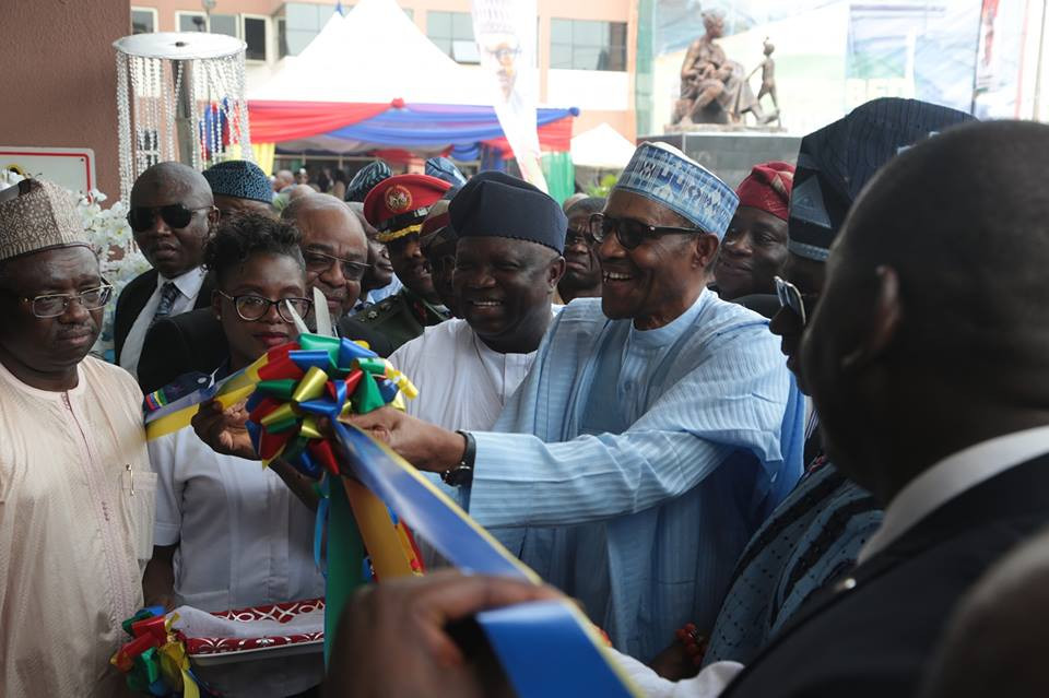 Photos: President Buhari arrives Lagos to commission projects