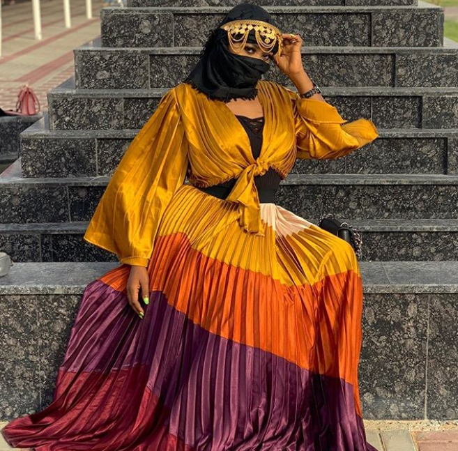 Alaafin Of Oyo Younger Wife, Olori Ajoke stuns in Arabian dress (Photos)