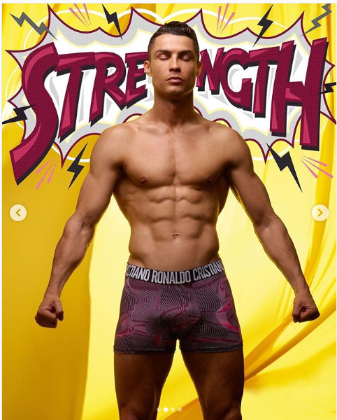 Cristiano Ronaldo puts his eggplant on display as he models his new CR7 underwear range (Photos)
