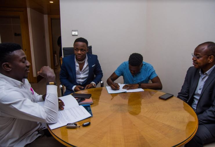 Fast Rising Star, Timz joins Anonymous music (Photos)