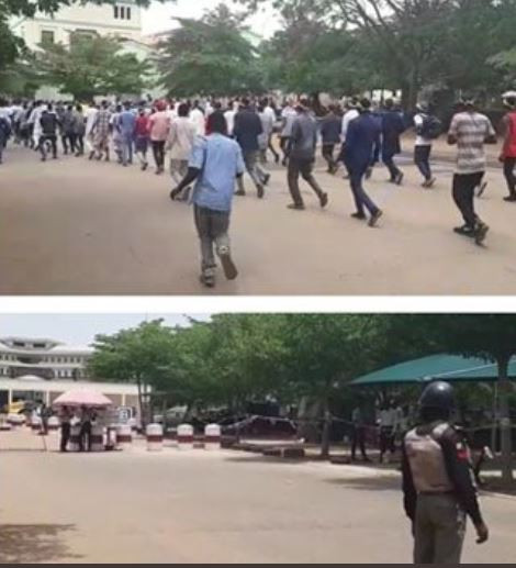 Photos:?Shiites take protest to United Nations headquarters in Abuja to demand release of their leader,?El-Zakzaky