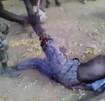 Nigerian Army reacts to viral video of soldiers breaking the leg of a man and forcing him to eat his flesh
