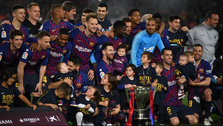 Barcelona crowned La Liga champions after Lionel Messi comes off the bench and scored the only goal. (Photos)