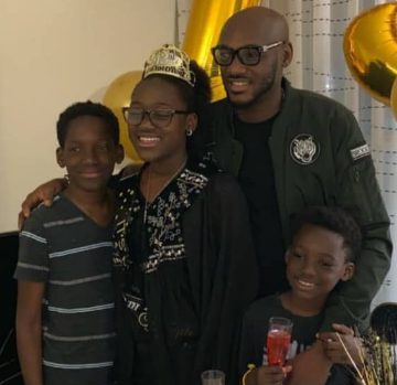 2Face Idibia flies to the US to surprise his daughter on her 13th birthday