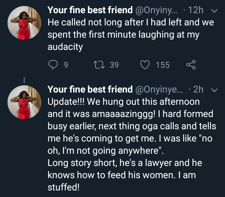 Lady narrates how she gave her number to a guy she met at a wedding and what they did after