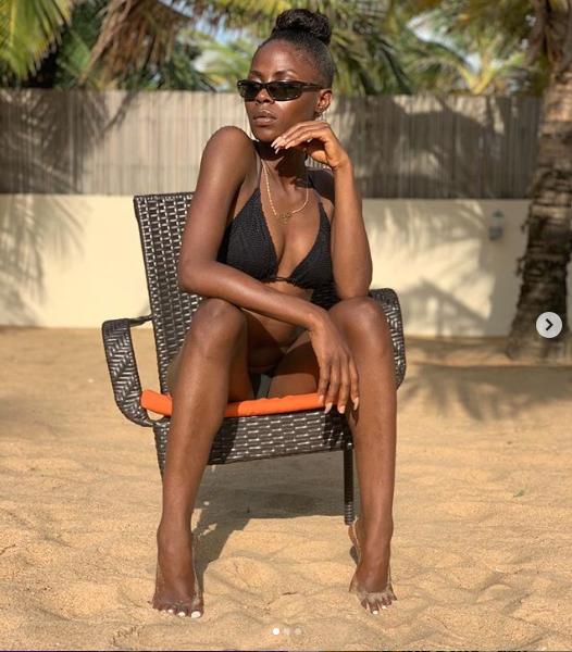 BBN star, Khloe flaunts her bikini body in new Beach photos