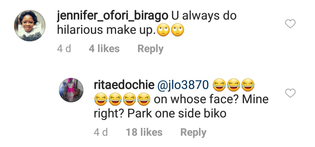 Actress Rita Edochie replies trolls attacking her over her makeup in this photo