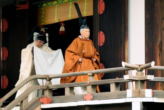 Japan emperor Akihito abdicates the throne making him the first monarch to step down in 200 years