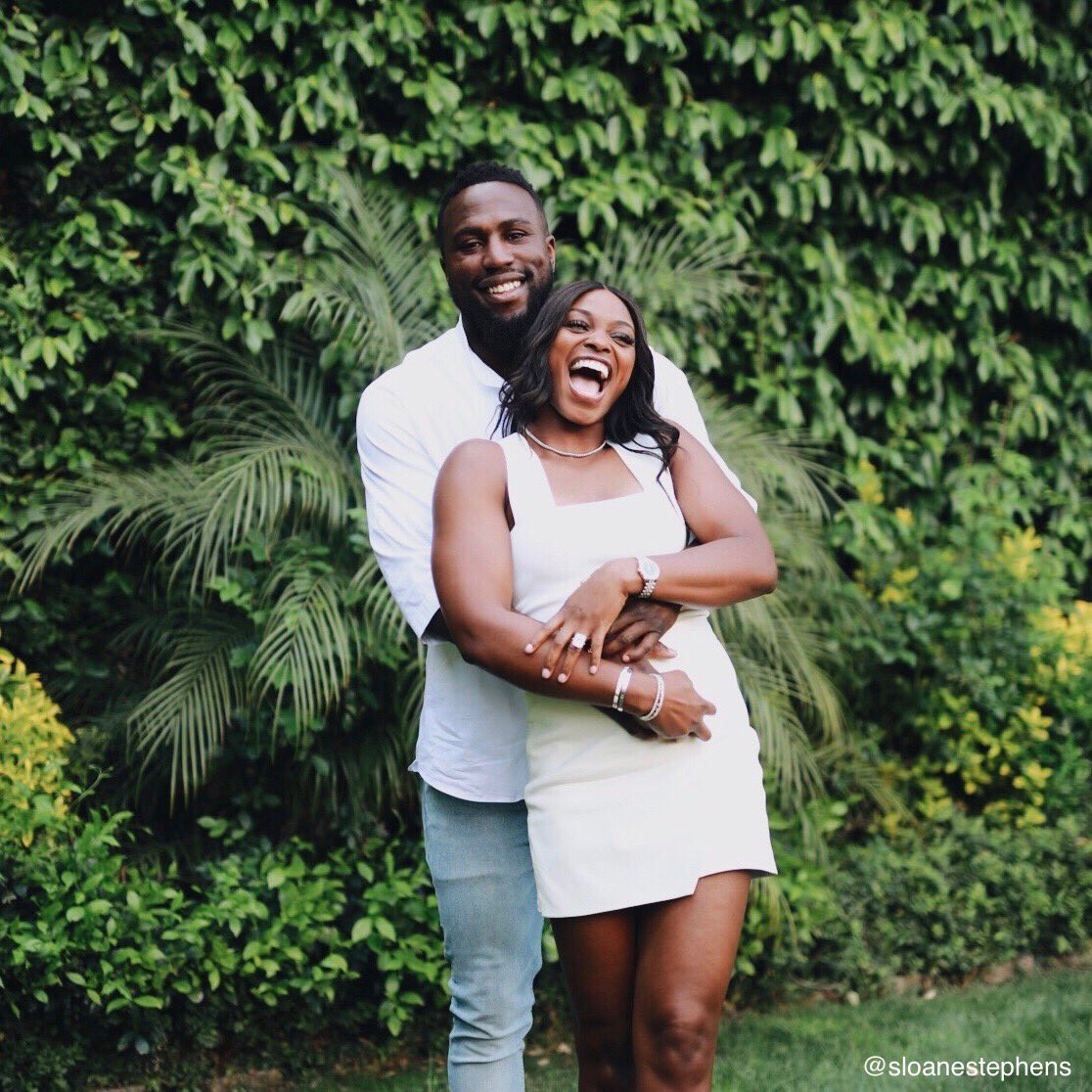 Former US Open champion Sloane Stephens announces engagement to ex-Sunderland striker Jozy Altidore (Photos)
