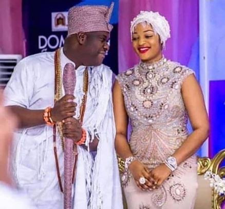 Cute new photo of the Ooni of Ife and his pretty wife, Prophetess Naomi