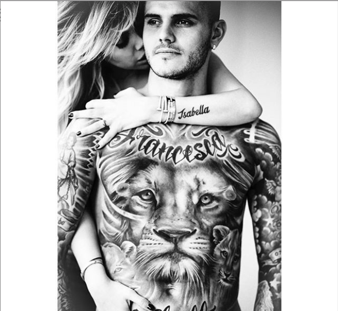 Inter Milan striker, Mauro Icardi?s wife Wanda shares topless photo of her grinding on him.