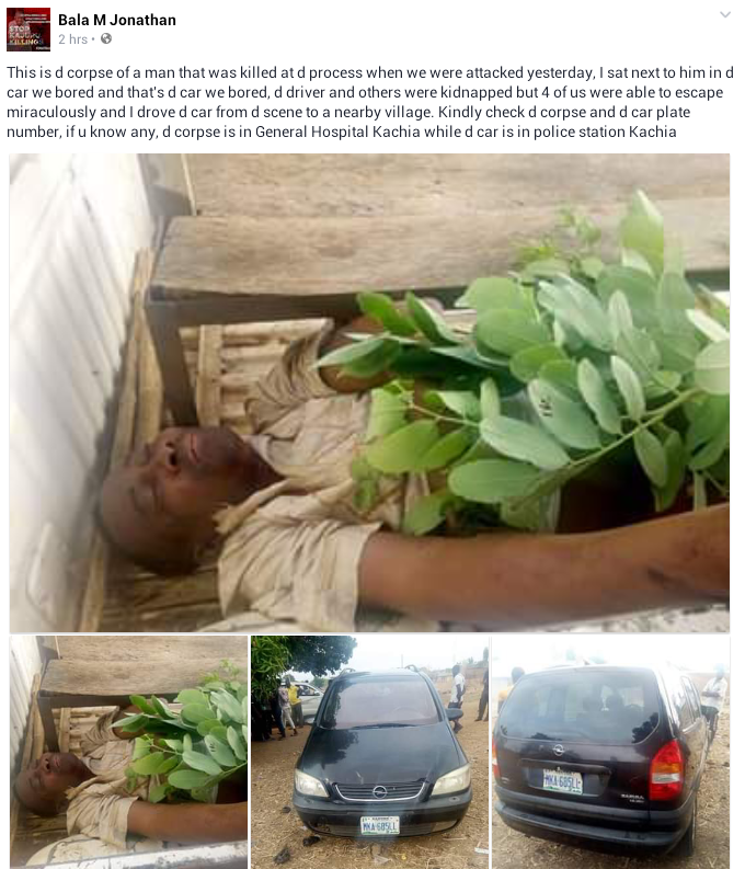 Photos: Gunmen attack travelers on Abuja-Kaduna Highway, kill one, kidnap driver, others