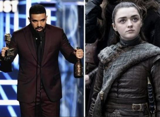 Drake gives a shout-out to 'Game of Thrones' star, Arya Stark in his Billboard Music Awards speech
