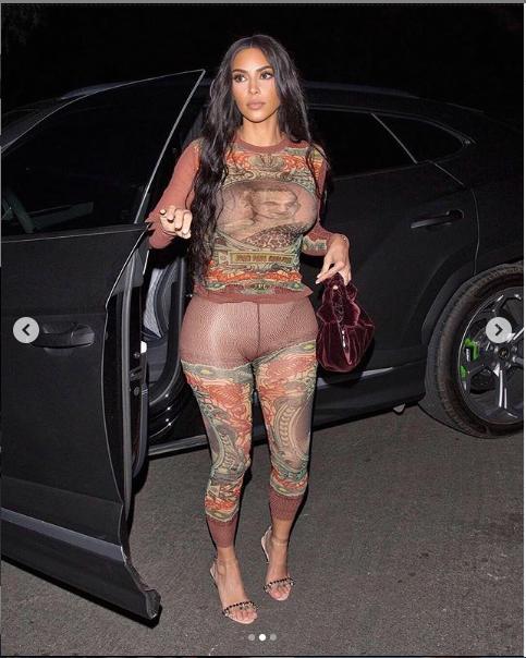 Kim Kardashian puts on an eye-popping display in skintight vintage Jean Paul Gaultier (Photos)