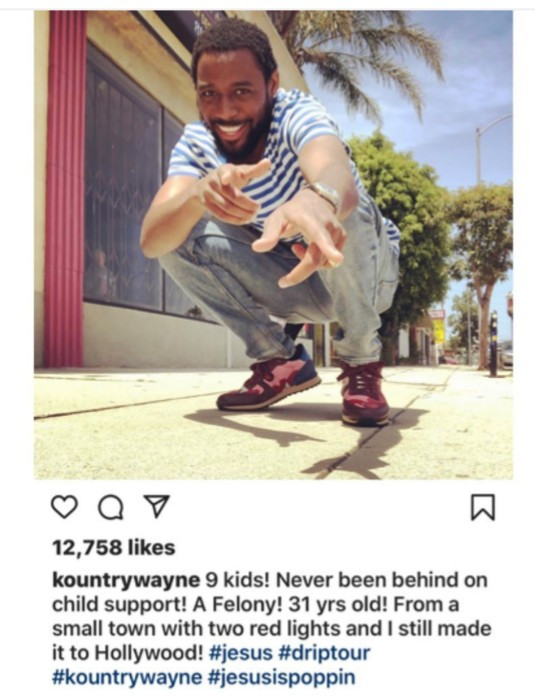 """Kountry Wane who has 9 kids at 31 boasts about never being """"behind on child support"""""""
