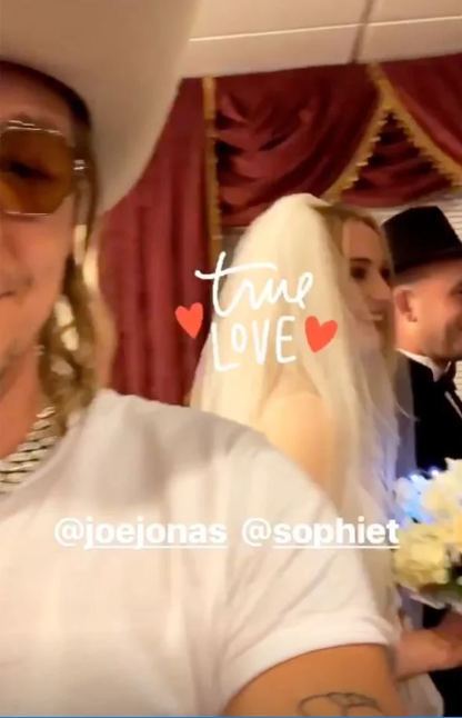 Joe Jonas and Sophie Turner get married in secret Las Vegas wedding (photos/videos)