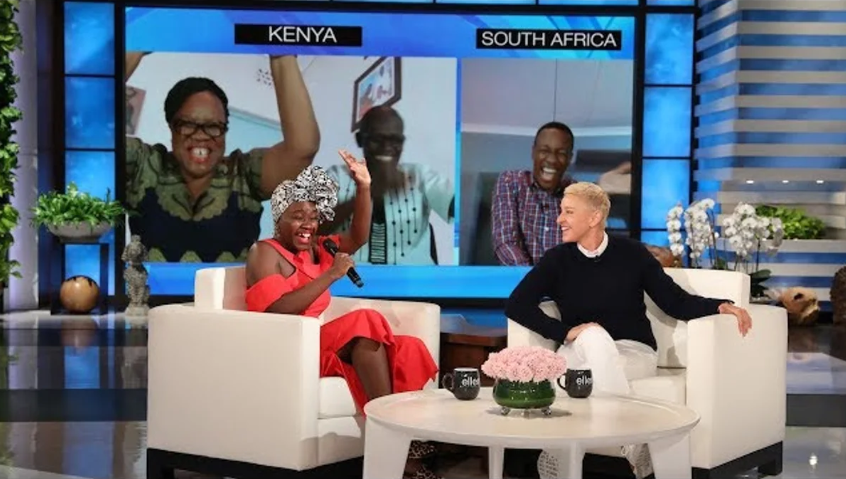 Ellen DeGeneres surprises Kenyan woman by reuniting her with her family and it