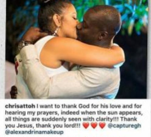 Actor, Chris Attoh?deletes all?photos with his new wife on his IG?page
