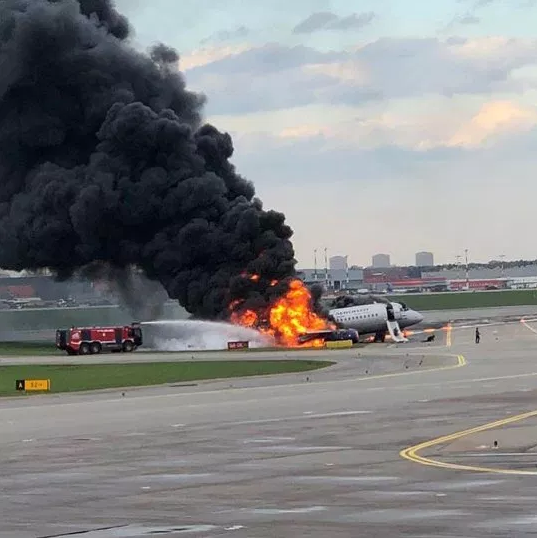 At least one dead as plane erupts into flames during an emergency landing in Moscow
