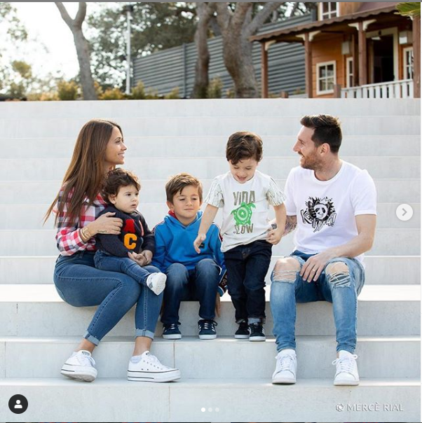 Image result for images of Lionel Messi and his beautiful family pose in new adorable photos