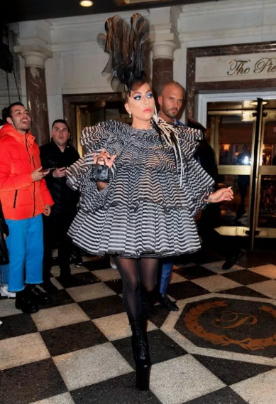 Lady Gaga turns heads with her unique outfit to pre-Met Gala
