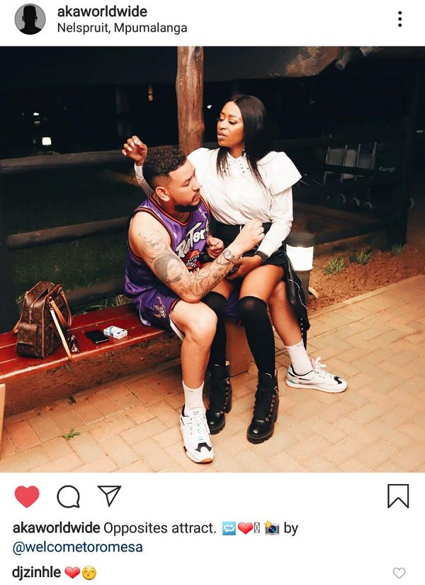 SA rapper, AKA and babymama DJ Zinhle are back together as they are pictured in new loved-up photo