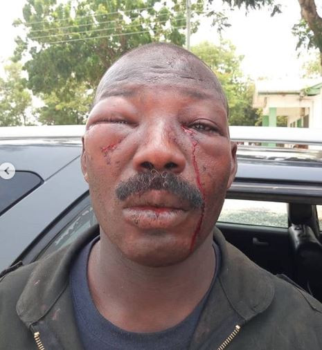 See what angry Ghanaians did to a Police officer (Photo/Videos)