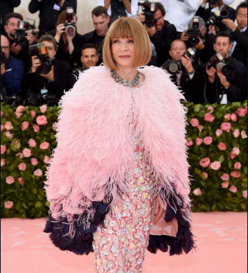 The Met Gala best dressed award to Anna Wintour
