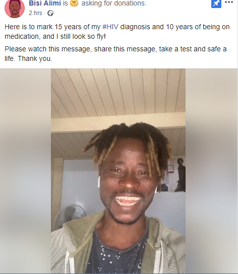 """""""HIV knows no sexuality"""" Bisi Alimi shares some words  of advice as he marks 15 years of living with HIV"""