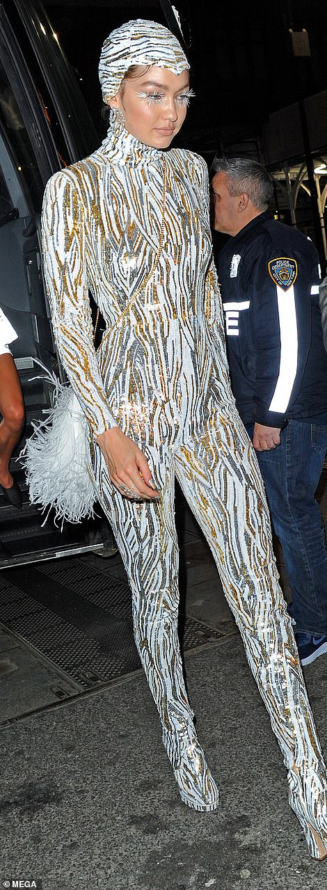 Kim Kardashian leads the stars as she arrives at Met Gala after party looking like a living doll