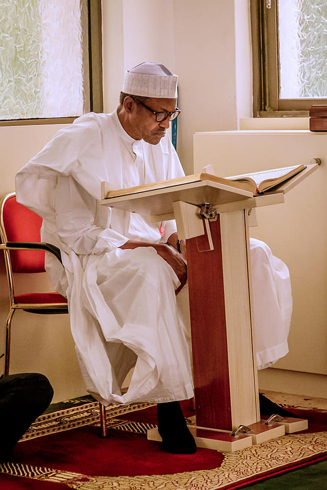 President Buhari participates at the opening of 2019 Ramadan Tafsir at the?State House Mosque (Photos)
