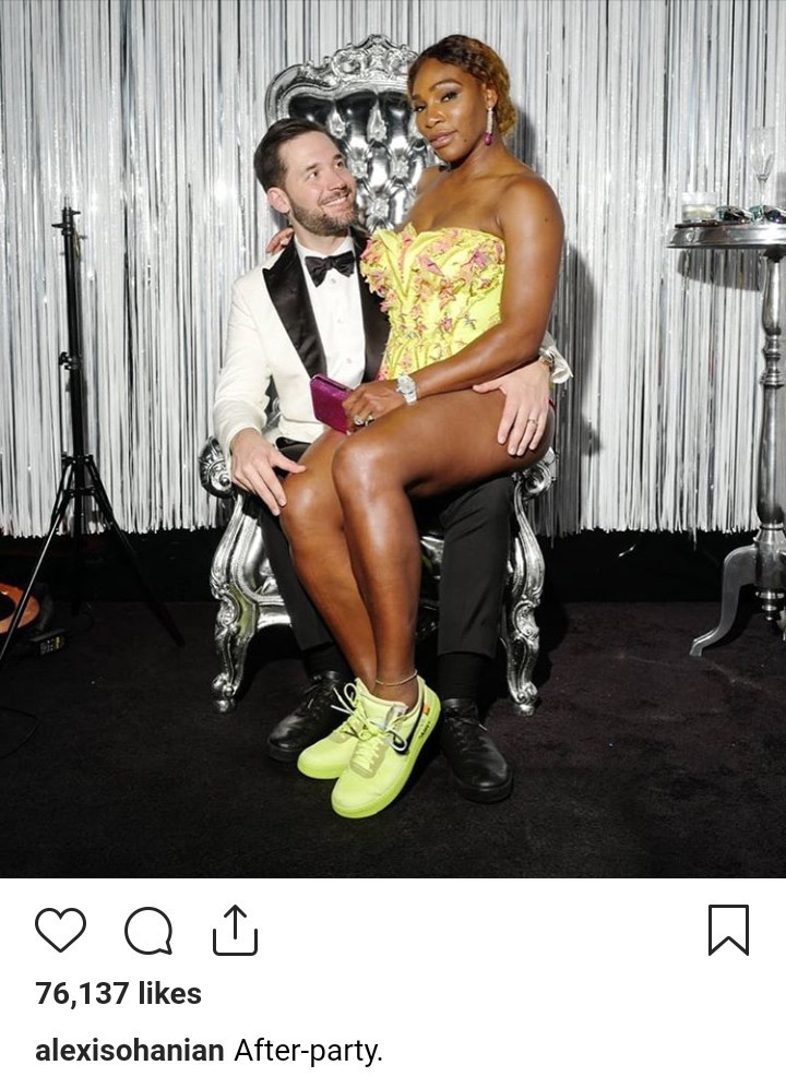 Alexis Ohanian shares loved up photo with wife Serena Williams at Met Gala after-party
