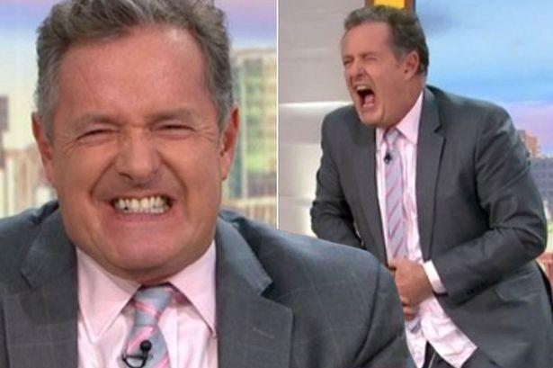 Piers Morgan screams out in pain as he
