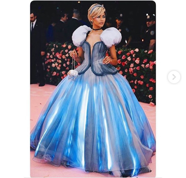 Zendaya Coleman shows the work that went into creating her Cinderella dress for the Met Gala