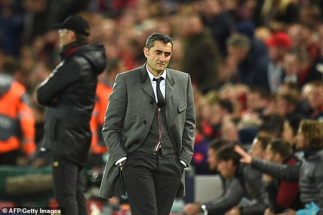 Barcelona on brink of sacking manager Ernesto Valverde after 4-0 humiliation by Liverpool sent them packing from Champions League?