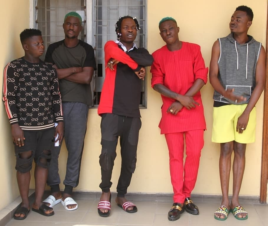 Naira Marley, Zlatan, others pose for the camera as EFCC parades them following their arrest (photos)